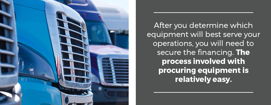 purchase trucking equipment for owner operator