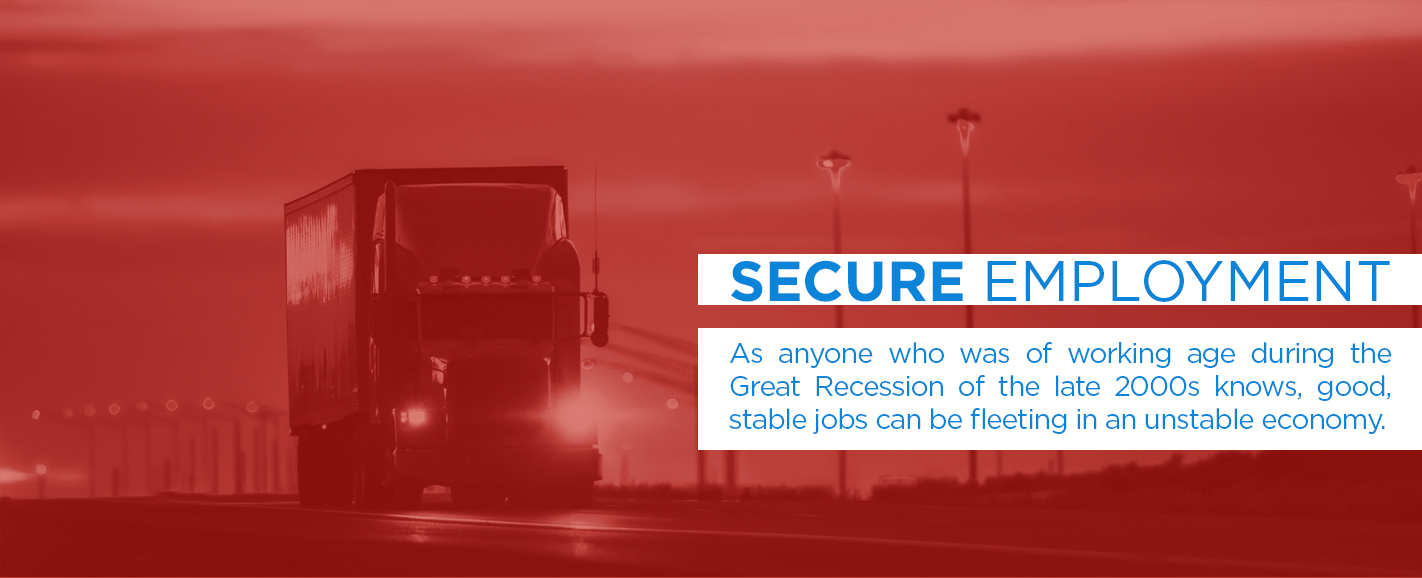 Truck Drivers have Job Security